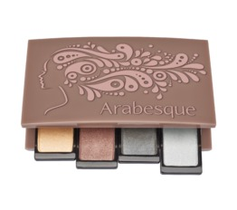 Nachfüllbare Beauty Boxen ARABESQUE Beauty Box mauve Nachfüllbare Magnetbox für Lidschatten und Blusher