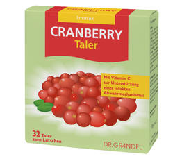 Vitamine & Bioflavonoide DR. GRANDEL CRANBERRY Wafers Cranberry concentrate and vitamin-C