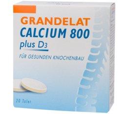 Mineralstoffe & Spurenelemente DR. GRANDEL GRANDELAT Calcium 800 plus D3 Kautaler mit Calcium und Vitamin D