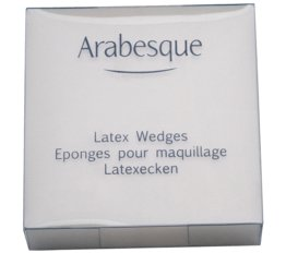 Accessory ARABESQUE Latex Wedges For the evening application of make-up