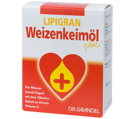 Wheat Germ & Dietary Fibre DR. GRANDEL LIPIGRAN Wheat Germ Oil Plus in Capsules Your Convenient Source of Targeted Vitamin E