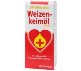 Weizenkeime und Ballaststoffe DR. GRANDEL LIPIGRAN 1000 Weizenkeimöl plus Das pflanzliche Vitamin-E-Konzentrat.