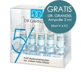 WIRKSTOFF-AMPULLEN DR. GRANDEL Hyaluron 5FIVE Fünf Hyaluron Ampullen in der Ampullen-Mini-Bar