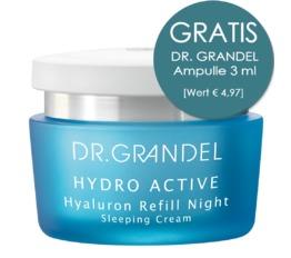 Hydro Active DR. GRANDEL Hyaluron Refill Night Sleeping Cream für pralle Feuchtigkeit über Nacht