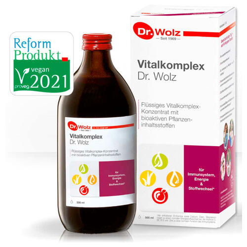 Stärkung & Regeneration Dr. Wolz Vitalkomplex Flüssiges Vitalstoff-Konzentrat