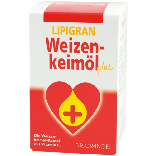 Wheat Germs & Dietary Fibre Dr. Grandel Lipigran Weizenkeimöl plus Kapseln 200 pcs Wheat germ oil capsule with vitamin E