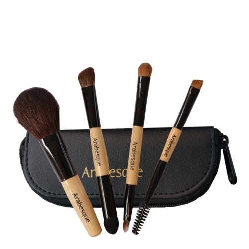 Arabesque: Mini Pinsel Set - Professionelle Make-up Mini Pinsel im Reise-Set