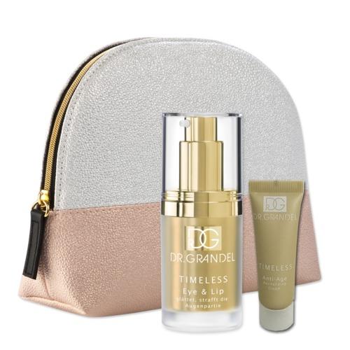 Aktionen Dr. Grandel Geschenkset Golden Eye Beautybag mit goldenen Produkten