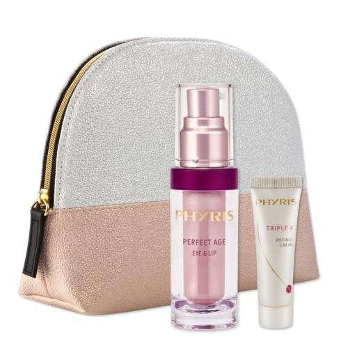 Aktionen Phyris Geschenkset Rosarote Augenblicke Kosmetiktasche mit rosaroten Beautyprodukten
