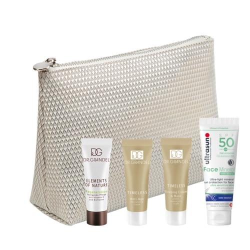 Aktion DR. GRANDEL Beautytasche für die Reise Vier Minigrößen für den Urlaub in der Tasche