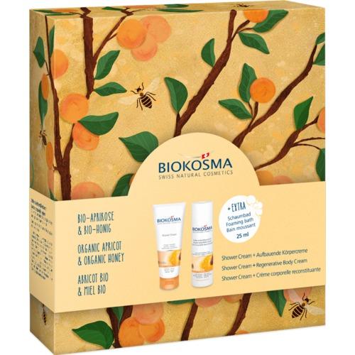 Shower & Body BIOKOSMA Geschenkbox Aprikose-Honig Kosmetik Geschenkset Shower Cream & Body Cream