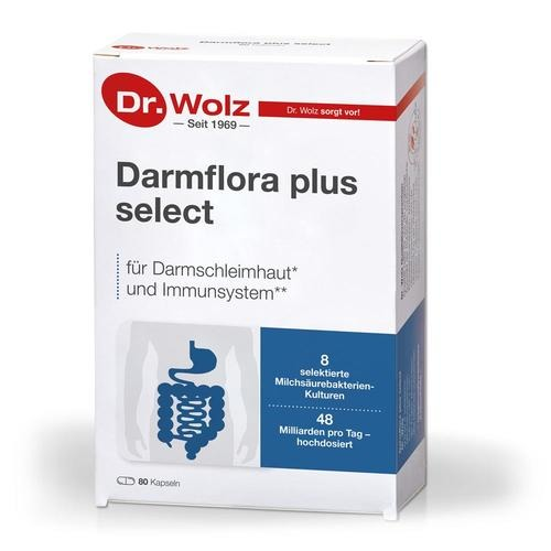 Darmgesund Dr. Wolz Darmflora plus select - 80 Kapseln Für eine gesunde Darmfunktion