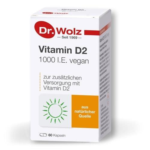 Vitamine & Mineralstoffe Dr. Wolz Vitamin D2 1000 I.E. vegan Versorgung mit Vitamin D aus veganer Quelle