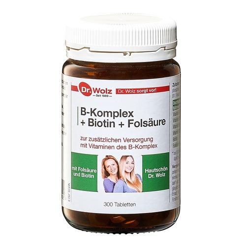Vitamine & Mineralstoffe Dr. Wolz B-Komplex + Biotin + Folsäure B-Komplex + Biotin + Folsäure Hefetabletten