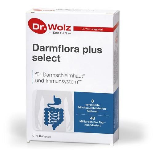 Darmgesund Dr. Wolz Darmflora plus select - 40 Kapseln Für eine gesunde Darmfunktion