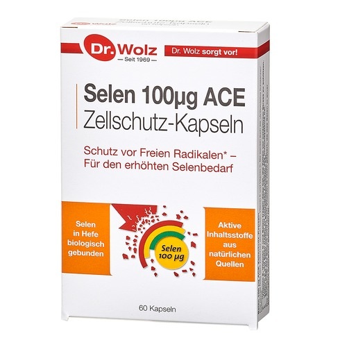 Vitamine & Mineralstoffe Dr. Wolz Selen 100µg ACE Zellschutz mit 100µg Selen pro Kapsel