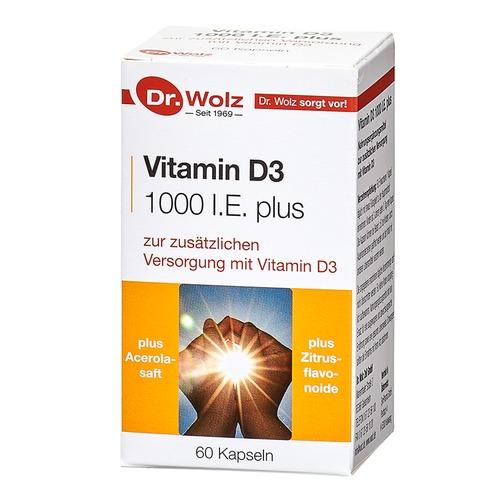 Vitamine & Mineralstoffe Dr. Wolz Vitamin D3 1000 I.E. plus Gezielte Versorgung mit Vitamin D