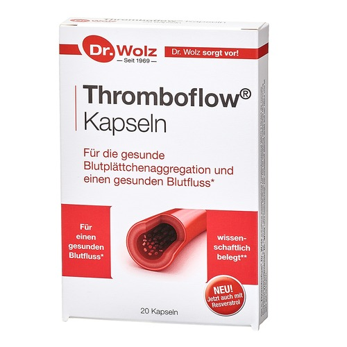 Herz & Kreislauf Dr. Wolz Thromboflow 20er Kapseln Fördert die gesunde Blutplättchenaggregation