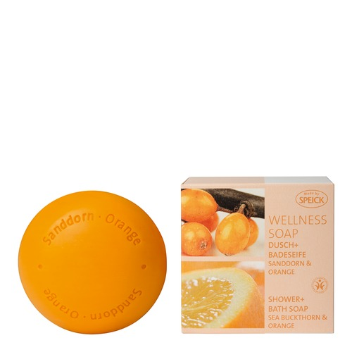 Made by Speick Wellness Soaps Speick Sanddorn & Orange Dusch- und Badeseife