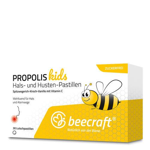 Propolis beecraft PROPOLIS Kids Hals- und Hustenpastillen Propolis Lutschpastillen für Kinder ab 4 Jahren