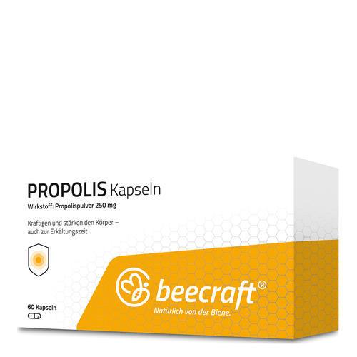 Propolis beecraft PROPOLIS Kapseln 60 Zur Kräftigung und Stärkung des Allgemeinbefindens