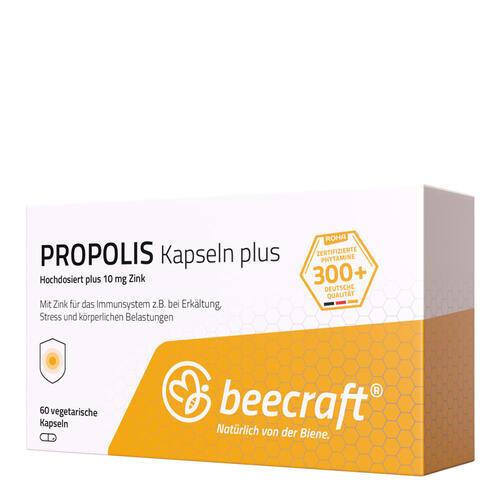 Propolis beecraft PROPOLIS Kapseln 60 Hochdosiert mit Zink für das Immunsystem