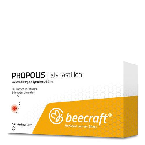 Propolis beecraft PROPOLIS Halspastillen  Bei Kratzen im Hals und Schluckbeschwerden