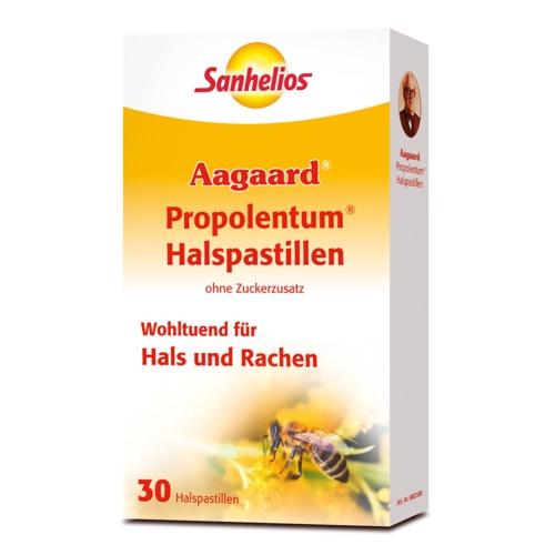 Aagaard Sanhelios Propolentum Halspastillen ohne Zuckerzusatz Wohltuend für Hals und Rachen