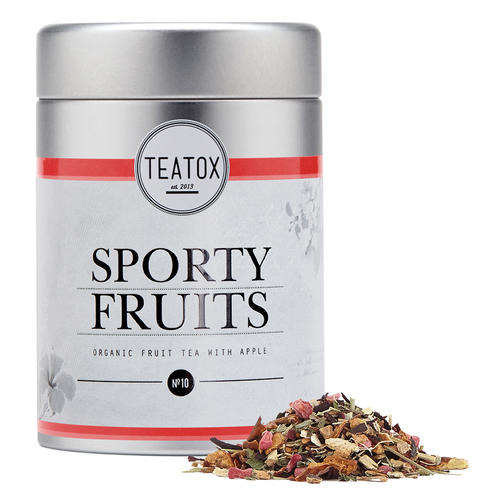 Tees TEATOX Sporty Fruits Sporty Fruits Bio Früchtetee mit Apfel & Hibiskus
