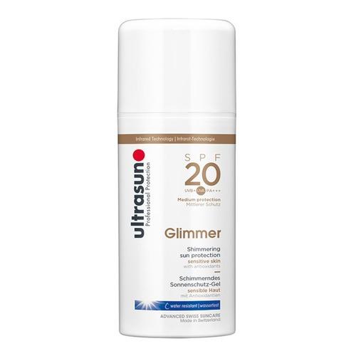 Body Ultrasun Glimmer SPF 20 Schimmernde Sonnenschutz-Lotion für sensible Haut