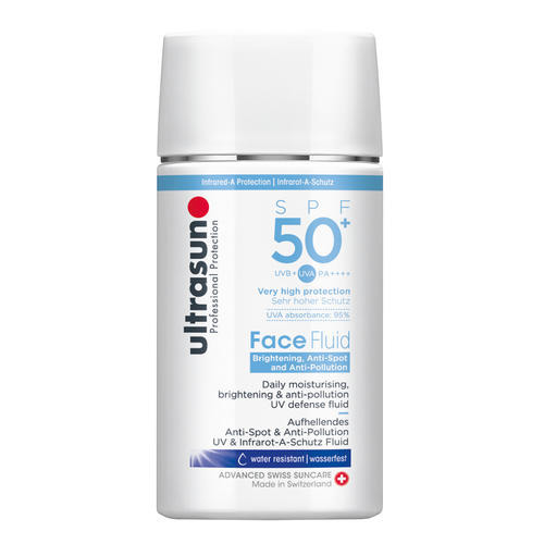 Face Ultrasun  Face Fluid Brightening & Anti-Pollution SPF50+ Anti-spot zonnebrandbescherming met SPF50+