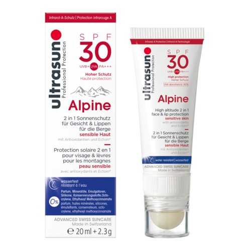 Face Ultrasun Alpine SPF30 Kombi Gesichts-Sonnenschutz als Gel und Stick