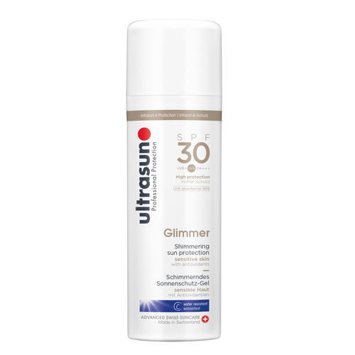 Body Ultrasun  Glimmer SPF30 Zachtglanzende zonnebeschermingsgel
