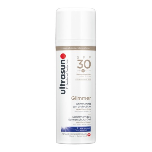 Body Ultrasun Glimmer SPF 30 Schimmerndes Sonnenschutz-Gel für sensible Haut