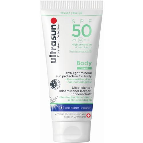 Body Ultrasun  Body Mineral SPF50 Sonnenschutz für überempfindliche Haut