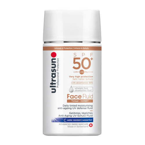 Face Ultrasun Face Fluid Tinted Honey SPF50+ Getöntes Anti-Aging Sonnenschutz-Fluid