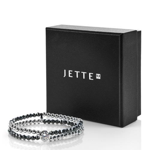Aktionen JETTE Silver Armband Summer Night von JETTE Armband aus 42 Glassteinen in silber und anthrazit
