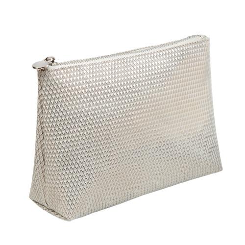 Zubehör Arabesque Kosmetiktasche weiß metallic Kosmetiktasche für unterwegs