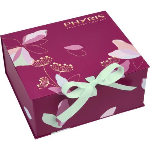 Phyris Paarse cadeaubox met bloemenprint Hippe cadeaubox om zelf te vullen