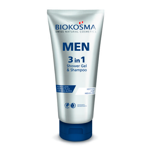 Men Biokosma 3 in 1 Shower Gel & Shampoo Sanfte Reinigung