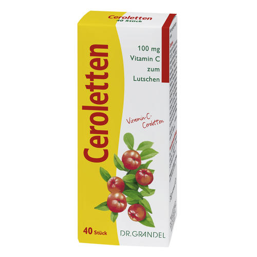 Vitamins & Bioflavonoids Dr. Grandel Ceroletten Wafers with vitamin C