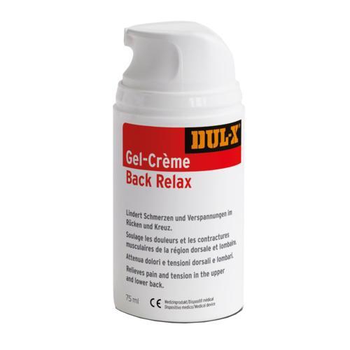 Medizinische Sport- und Pflegemittel DUL-X Gel-Crème Back Relax Medizinprodukt mit 2-Phasen-Effekt