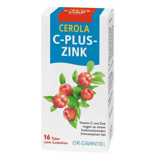 Vitamins & Bioflavonoids Dr. Grandel Cerola C-plus-Zink Taler Vitamin C and Zinc