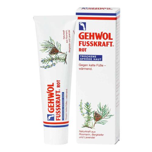 Fusskraft GEHWOL   FUSSKRAFT ROT für trockene spröde Haut Wärmender Fußbalsam für trockene Haut