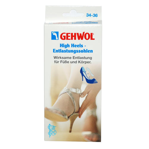 Pflaster & Druckschutz GEHWOL High Heels - Entlastungssohlen XS (Gr. 34-36) Wirksame Entlastung für Füße und Körper