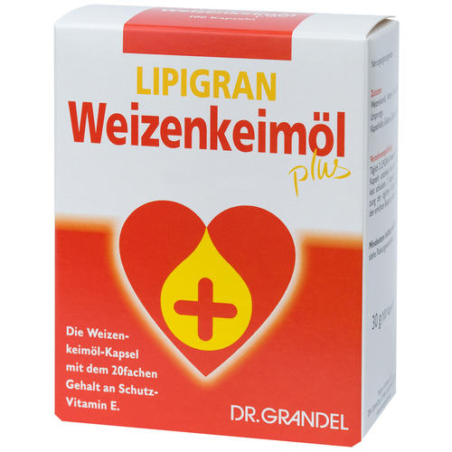 Wheat Germs & Dietary Fibre Dr. Grandel Lipigran Weizenkeimöl plus Kapseln Your Convenient Source of Targeted Vitamin E