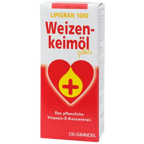 Wheat Germs & Dietary Fibre Dr. Grandel Lipigran 1000 Weizenkeimöl plus 250 ml The Vitamin E Concentrate Made from Plants