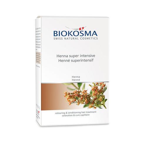 Haarpflege Biokosma Henna superintensiv Kurpackung zur Haartönung und Pflege.