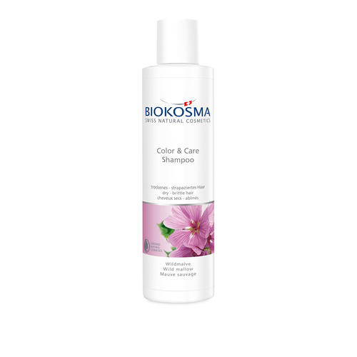 Haarpflege BIOKOSMA Shampoo Color & Care Wildmalve trockenes - strapaziertes Haar