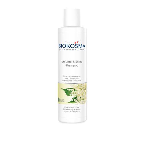 Haarpflege Biokosma Shampoo Volume & Shine Holunderblüte feines - kraftloses Haar